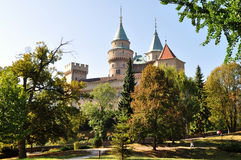 Magnificent castle Bojnice in Slovakia Stock Photo