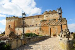 The magnificent Castle of Buen Amor in Topas, Salamanca, Spain Royalty Free Stock Photography