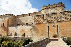 The magnificent Castle of Buen Amor in Topas, Salamanca, Spain Stock Images