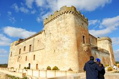 The magnificent Castle of Buen Amor in Topas, Salamanca, Spain Royalty Free Stock Image