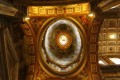 Magnificent ceiling St Peter Basilica Vatican Royalty Free Stock Photo