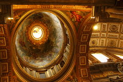 Magnificent ceiling St Peter Basilica Vatican Stock Photography