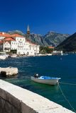 Magnificent city of Perast near the sea. Montenegro Royalty Free Stock Photos