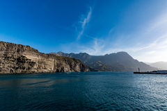 Magnificent cliffs and God's Finger (Dedo de Dios) near Puerto de las Nieves, Gran Canaria royalty free stock photos
