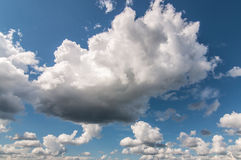 Magnificent cloud in the blue sky Royalty Free Stock Photo