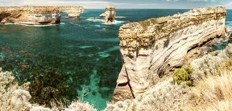 Magnificent coastal view along Razorback viewpoint - Great Ocean Royalty Free Stock Images