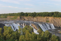 Magnificent Cohoes Falls Stock Image