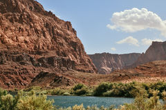 Magnificent Colorado River  in the steep banks Stock Images
