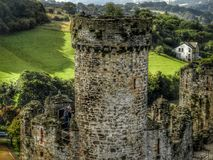 Conwy Castle Tower. Magnificent Conwy Castle, set un the town of the same name. North Wales stock photos