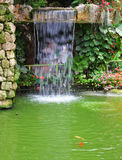 Magnificent decorative waterfalls Royalty Free Stock Images