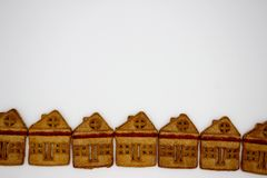 Magnificent And Delicious Cookies In The Form Of A One-Story Building. Isolated Image. Copy Space royalty free stock photo