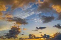 Colorful evening clouds Royalty Free Stock Images