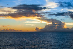 Magnificent evening Sky. Over the Pacific Ocean royalty free stock photo