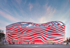 Magnificent Exterior of Petersen Automotive Museum royalty free stock photo