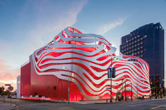 Magnificent Exterior of Petersen Automotive Museum royalty free stock photos