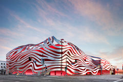 Magnificent Exterior of Petersen Automotive Museum Stock Image