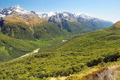 Magnificent fabulous scenery in New Zealand Stock Image