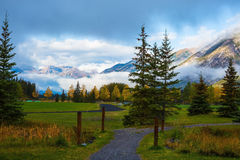 Magnificent fall in the Rocky Mountains Stock Images