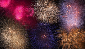 Magnificent fireworks Stock Photography