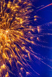 Magnificent Fireworks background vertical image Royalty Free Stock Image