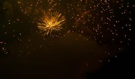 Magnificent fireworks in the night sky Royalty Free Stock Image