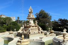 Free Magnificent Fountain In Ajuda Botanical Garden, Lisbon Royalty Free Stock Photography - 135878967