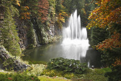 Magnificent fountain in well-known Butchard-garden Stock Image