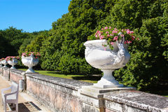 Magnificent garden of Diane de Poitiers Royalty Free Stock Images