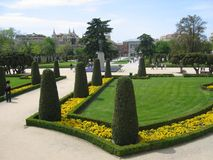 Magnificent garden in Madrid, Spain Royalty Free Stock Photo