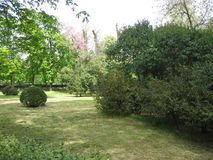 Magnificent garden in Madrid, Spain Royalty Free Stock Photos