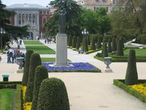 Magnificent garden in Madrid, Spain Stock Images