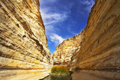 Magnificent  gorge En-Avdat Stock Image