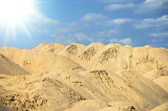 Magnificent greater sandy dune on sunrise Royalty Free Stock Photos