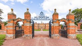Hanbury Hall, Worcestershire, England. The magnificent Hanbury Hall was built in the William and Mary style for Thomas Vernon in the early 1700s Royalty Free Stock Photo