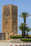 The magnificent Hassan Tower in Rabat in Morocco. Stock Photo