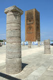 The magnificent Hassan Tower in Rabat in Morocco. Royalty Free Stock Images
