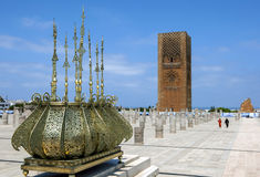The magnificent Hassan Tower in Rabat in Morocco. Stock Images