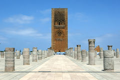 The magnificent Hassan Tower in Rabat in Morocco. Royalty Free Stock Photography