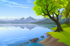Magnificent  Hills And Lake view Royalty Free Stock Photo