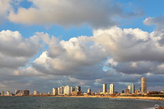 The magnificent hotels of quay in Tel Aviv Stock Photo