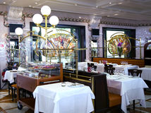 Magnificent interior of Cafe de Pari Stock Images