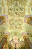 Magnificent interior ceiling cathedral. Magnificent interior ceiling - Saint Petersburg Basilica Royalty Free Stock Photos