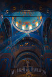The magnificent interior of Trinity cathedral in stock photos