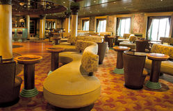 Magnificent interiors on cruise the ship Stock Photo