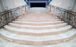 Magnificent light marble staircase Stock Photos