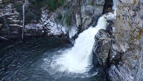 Magnificent Linville Falls in North Carolina. Watch as Linville Falls cascades into it's basin stock video