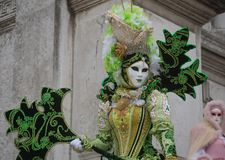 Magnificent mask in Venice, Carnival royalty free stock photos
