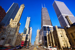 Magnificent Mile. In Chicago, IL, US royalty free stock image