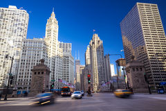 Magnificent Mile in Chicago Royalty Free Stock Image