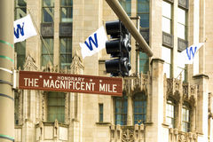 The Magnificent mile stock photo